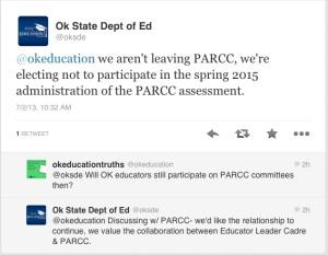 conversation about parcc
